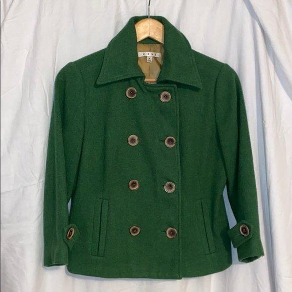CAbi Jackets & Blazers - Cabi Short Peacoat, Kelly Green Size 4